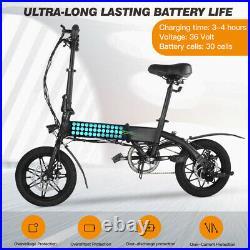14 Wheels Folding Hybrid Electric Bike MTB Cycling 36V City E-bike LCD Display
