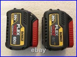 2 New Dewalt DCB606 Flexvolt 20V / 60V Max 6.0Ah Lithium Ion Batteries Li-ion