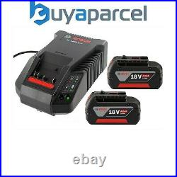 2 X Bosch 18v 4Ah Li-ion Coolpack Batteries Lithium Ion + AL1860 Turbo Charger