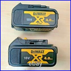 2 X Dewalt DCB182 18 Volt 4.0 Ah XR Li-Ion Lithium-Ion Slide Battery GENUINE