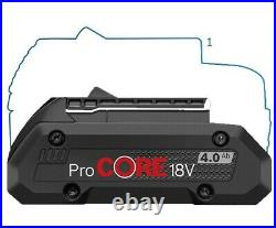 2 x Bosch 1600A016GB ProCORE GBA 18v 4.0Ah Lithium Ion Battery Cordless