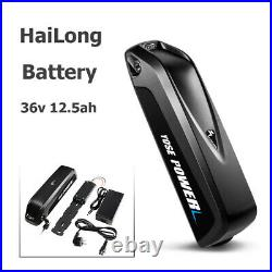 36V12.5Ah Electric Bike Ebike Lithium-ion(Li-Ion)HaiLong Battery with 2A Charger