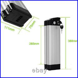 36V15Ah Lithium-ion Battery E-bike Silver Fish with Cellphone Charging USB