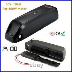 36V 10AH 350W 500W Downtube Lithium Li-ion E-Bike Battery Electric Bicycle BMS