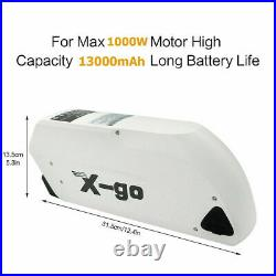 48V 13Ah 1000W TIGER SHARK Li-Ion Lithium Battery fr Electric Bicycles 30A BMS