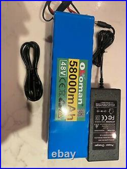 48v 58ah Lithium Ion Battery Ebike Scooter & Charger Battery Pack 1000w UK Stock