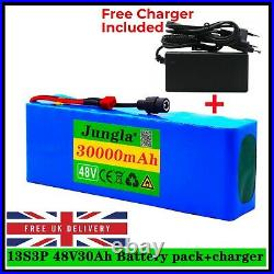 48v Lithium Ion Battery Pack For E Bike E Scooter Rechargeable 1000w 30000mAh