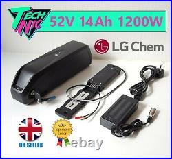 52V 14Ah 1200W Hailong-3 e-Bike Battery LG Li-ion Lithium Cells & 2A UK Charger