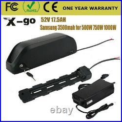 52V 17.5Ah Samsung 3500mah lithium Li ion Battery Electric Bike Downtube Ebike