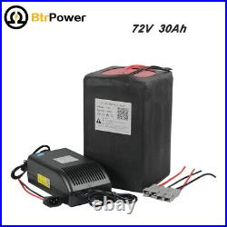 72V 30ah Lithium Li-ion Battery For 72V 2000W 50A Motor Electric Bike Trike+BMS