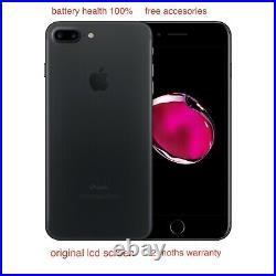 Apple iPhone 7 Plus 128GB Black Unlocked pristine looks new 100%battery health