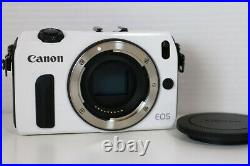 Canon EOS M 18.0MP Digital Camera White Body Mirrorless withCharger Battery