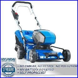 Cordless Lawnmower Self Propelled Battery Li-ion 40V 420mm Mulching Lawn Mower