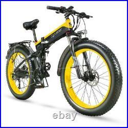Cyrusher Electric bike XF690 1000W 48V electric mountain bike 4.0 fat tire Bike