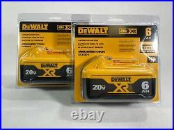 DEWALT DCB206 20V 6.0Ah Lithium-Ion Battery 2-Pack Brand New Genuine Batteries
