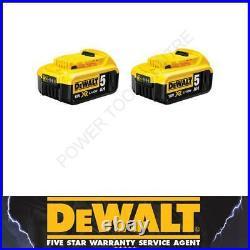 DeWalt Genuine DCB184 18V 5.0Ah Lithium-Ion Slide Battery 18V Li-Ion Pack of 2