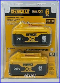 Dewalt 20-Volt MAX XR Premium Lithium-Ion 6Ah Battery Pack (2-Pack) DCB206-2