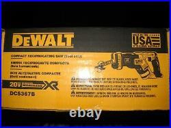 Dewalt DCS367B 20V 20V Max XR Brushless Variable Speed Reciprocating Saw IN BOX