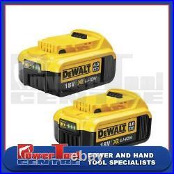 Dewalt x2 Genuine DCB182 18 Volt 4.0 Ah XR Li-Ion Lithium-Ion Slide Battery