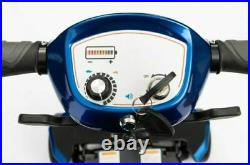 Drive Manual Folding Travel Mobility Scooter with Lithium-ion Battery 4mph -BLUE