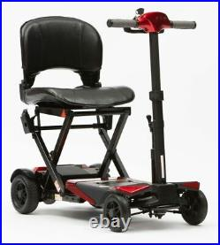 Drive Manual Folding Travel Mobility Scooter with Lithium-ion Battery 4mph Red