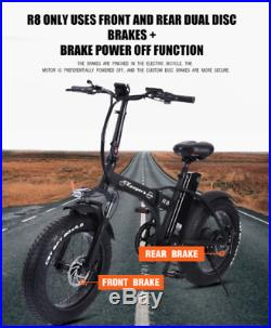 EBIKE 20 Electric Bike Foldable E-Bike 500W 48V 15Ah Fat Tyre- FREE GIFTS