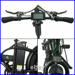 Electric Bike 48V 20 Fat Tires 500W Portable Folding LCD Road & Beach E-bike
