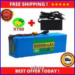 Electric Bike Scooter 1000w 13S3P 48v 99.999Ah Lithium Ion Battery Pack Charger