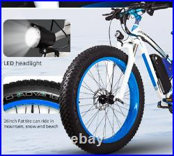 Electric Mountain Bike 1000W Fat Tyre 48v 17Ah 7speed Orange Colour