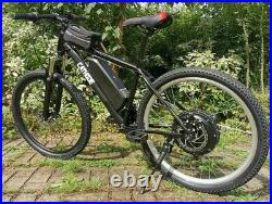 Electric Mountain Ebike 500w, 10Ah Lithium Battery, 26mph! CATHODE Made In UK