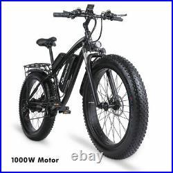 Electric Mountainbike 1000W Fat bike 26 Ebike 21 Speed Shimano 816Wh bicycle