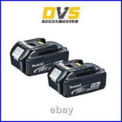Genuine Makita 2x BL1850B LXT 18v 5.0Ah Lithium-Ion Battery Indicator Twin Pack