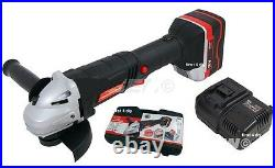 Heavy Duty 18v Lithium Li-ion Cordless 4.5 115mm Battery Angle Grinder In Case