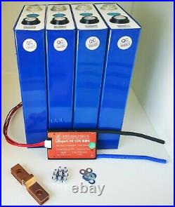 LIFEPO4 Lithium Iron Phosphate Battery 12.8v 100ah 3.2v x4 cells with BMS 12v