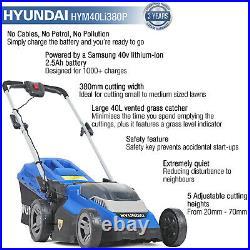 Lawnmower Cordless Battery Roller Li-ion 40V 380mm Lawn Mower 3YR Warranty cover