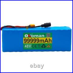 Lithium 48v 99.999ah Ebike Battery 1000w Pack High Power + Charger Ebike Ion Bat