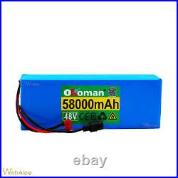 Lithium Ion Battery Pack For E-bike E-Scooter Rechargeable 48v 1000w 58000mah