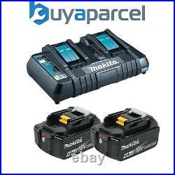 Makita BL1840 18v 2 x LXT 4.0ah Lithium-Ion Batteries + DC18RD Dual Port Charger