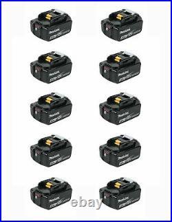 Makita BL1850B 18 Volt LXT Lithium-Ion 5.0Ah Battery, 10 Pack