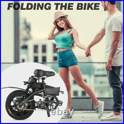 Megawheels 14'' Folding MTB Electric Bike 25KM/H Cycling Moped E-Bike Up to 50KM