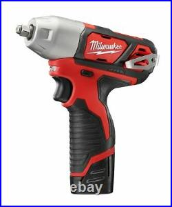 Milwaukee 2463-22 M12 12V Lithium-Ion Cordless 3/8 in. Impact Wrench Kit