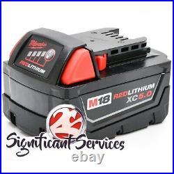 Milwaukee 2861-20 Fuel Li-ion 1/2 MidTorque Brushless Impact 5.0 Ah Batteries