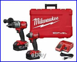 Milwaukee 2997-22 M18 Hammer Drill & Impact Driver Combo Kit with(2) 5Ah Batteries