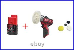 Milwaukee M12 Variable Speed Polisher/Sander Bare Tool 2438-20 with 2.0 Battery