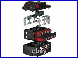 Milwaukee M18B5X2 Pack of Two M18 18v Red Lithium-Ion Battery 5.0ah