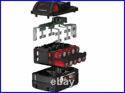 Milwaukee M18B5X5 Pack of Five M18 18v Red Lithium-Ion Battery 5ah