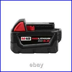 Milwaukee M18 2663-20 1/2 Impact Wrench, (1) 48-11-1850 5.0 Battery