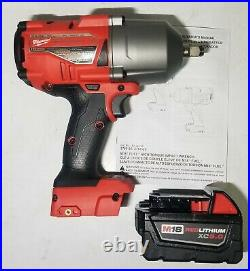 Milwaukee M18 FUEL 1/2 High Torque 1400 ft-lb Impact Wrench with5.0 Bat #2767-20B