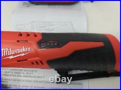 Milwaukee Ratchet Kit M12 Cordless 3/8 Lithium-Ion Two 2 Batteries 1.5 2457-20