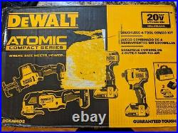 NEW! DEWALT DCK489D2 Atomic Compact Series 20V Lithium Ion Brushless 4 tool